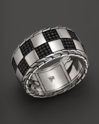John Hardy | Metallic Classic Chain Poleng Silver Band Ring for Men | Lyst