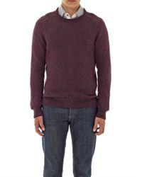 A.P.C. - Purple Donegal Crewneck Sweater for Men - Lyst