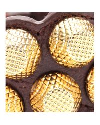 Balenciaga - Metallic Giant Stud Leather Bracelet - Lyst