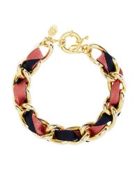 Brooks Brothers | Multicolor Ribbon Chain Bracelet | Lyst