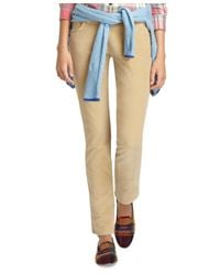 Brooks Brothers - Natural Janie Fit Fivepocket Corduroy Pants - Lyst