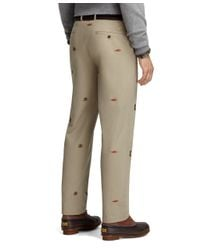 Brooks Brothers - Green Clark Fit Four-panel Fishing Embroidered Vintage Chinos for Men - Lyst