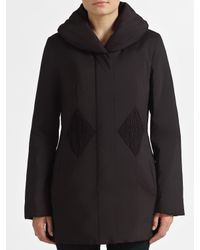 John Lewis - Black Diamond Padded Mac - Lyst