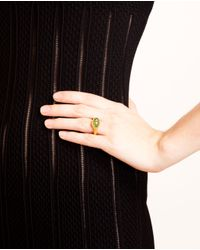 Ram - 22K Gold Ring With Green Garnet - Lyst