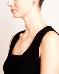 Rosa De La Cruz | White Diamond Heart Stud Earring | Lyst