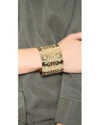 Fallon - Metallic Filigree Cuff Bracelet - Lyst
