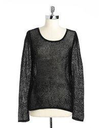 Guess | Black Chevronknit Hilo Sweater | Lyst