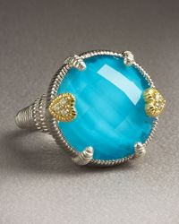 Judith Ripka | Brown Eclipse Turquoise Ring | Lyst