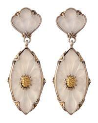 Konstantino | Metallic Iris Rock Crystal Marquis Drop Earrings | Lyst