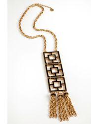 Trina Turk | Metallic Black 3 Tiered Brick Pendant | Lyst