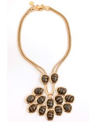 Trina Turk | Metallic Cabochon Necklace | Lyst