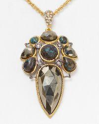 Alexis Bittar | Metallic Jardin De Papillon Mosaic Chrysocolla Pendant Necklace 15 | Lyst