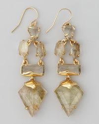 Alexis Bittar | Natural Miss Havisham Dangling Rigel Labradorite Wire Earrings | Lyst