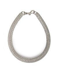 Atelier Swarovski | Swarovski Slim Crystal Bolster Necklace Black Diamond | Lyst