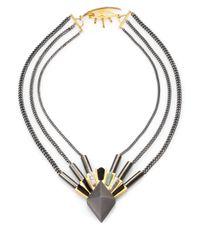 Eddie Borgo   Blue Black Onyx New Jade and Howlite Chain Necklace   Lyst