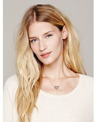 Erica Weiner - Metallic Etched Heart Necklace - Lyst