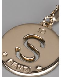 Fendi | Metallic S Identity Pendant | Lyst