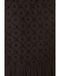 Forever 21 - Black Beaded Beauty Sleeveless Dress - Lyst