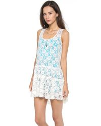 Free People | White Sleeveless Dress | Lyst