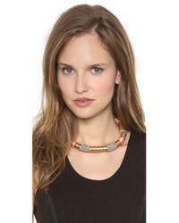 Holst + Lee - Brown Holst Lee Madagascar Colorblock Necklace - Lyst