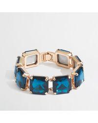 J.Crew - Blue Factory Square Stone Bracelet - Lyst