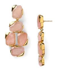 kate spade new york - Pink Stepping Stones Statement Earrings - Lyst