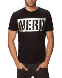 Forever 21 - Black Metallic Nerd Tee for Men - Lyst