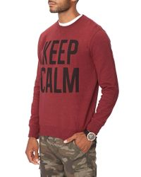 Forever 21 | Red Keep Calm Sweatshirt for Men | Lyst