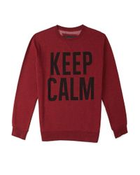 Forever 21 - Red Keep Calm Sweatshirt for Men - Lyst