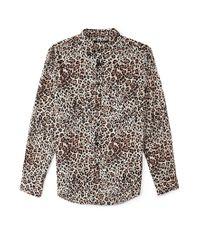 Forever 21 | Multicolor Slim Fit Leopard Print Shirt for Men | Lyst