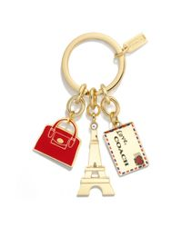 COACH - Metallic Paris Mix Key Ring - Lyst