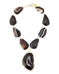 Devon Leigh - Yellow Freeform Agate Pendant Necklace - Lyst
