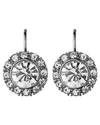 Dyrberg/Kern | Metallic Campbell Crystal Surround Drop Earrings | Lyst
