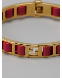 Fendi - Red Rigid Bracelet - Lyst