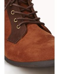 Forever 21 - Brown Commander Girl Ankle Booties - Lyst