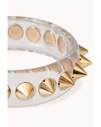 Forever 21 - Multicolor Spiked Clear Bangle - Lyst