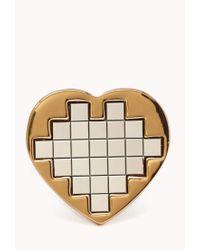 Forever 21 | Metallic Pixelated Heart Ring | Lyst