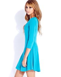 Forever 21 - Blue Classic Skater Dress - Lyst