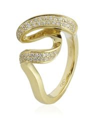 Links of London - Metallic Gold and Diamond Entwine Ring - Lyst