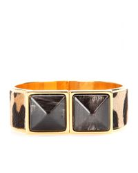 Marni | Metallic Pony Hair And Horn Bracelet | Lyst