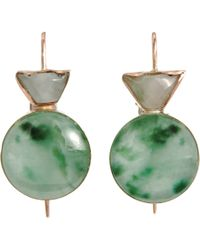 Sandra Dini | Green Jade Earrings | Lyst