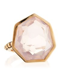 Stephen Dweck | Metallic Freeform Rose Quartz Ring | Lyst