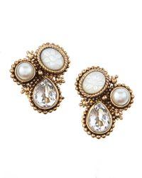 Stephen Dweck - Metallic Threestone Earrings - Lyst