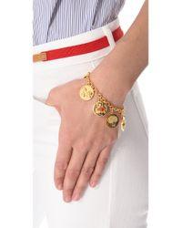 Tory Burch - Metallic Buddy Charm Bracelet - Lyst