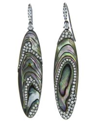 Arunashi | Green Abalone Shell Earring | Lyst