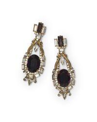 Club Monaco | Black Erickson Beamon Earrings | Lyst