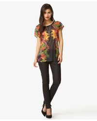 Forever 21 - Multicolor Tropical Print Dolman Top - Lyst
