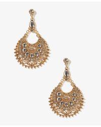 Forever 21 - Metallic Goddess Crescent Earrings - Lyst