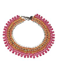 Venessa Arizaga - Pink Lily Rose Choker Necklace - Lyst