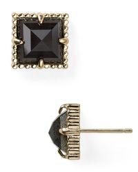 Kendra Scott | Black Cleo Stud Earrings | Lyst